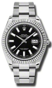 Rolex Datejust II 116334BKSO - Worldwide Watch Prices Comparison & Watch Search Engine