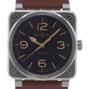 Bell & Ross BR 03 BR0392-ST-G-HE/SCA - Worldwide Watch Prices Comparison & Watch Search Engine