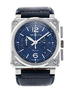 Bell And Ross Br03-94 Chronograph BR0394-BLU-ST/SCA - Worldwide Watch Prices Comparison & Watch Search Engine